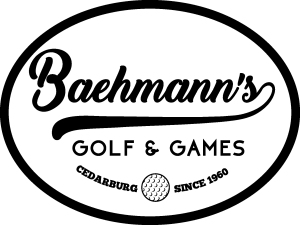 baehmann's golf and games logo