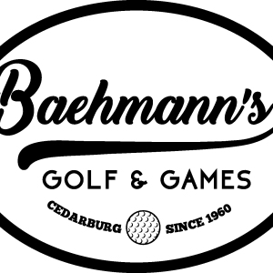 baehmann's golf and games logo